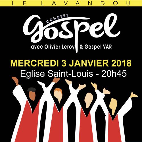 Le 3 janvier 2018 - Eglise Saint-Louis - Infos & réservations : 04 94 00 41 71 (10euros)
