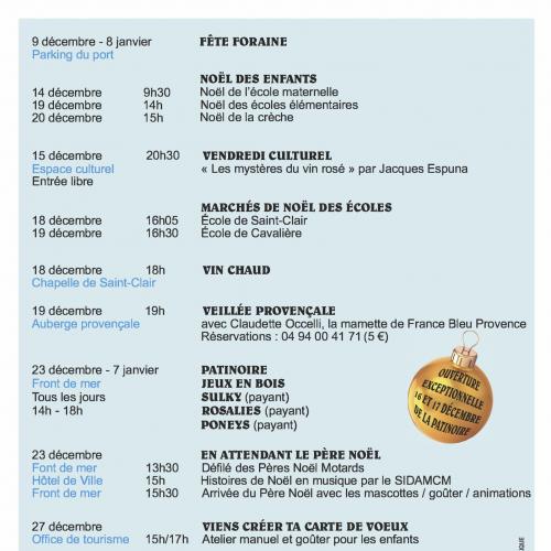Le Programme de Noël au Lavandou