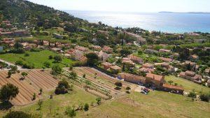 Vue aérienne terrasses de Saint-Clair
