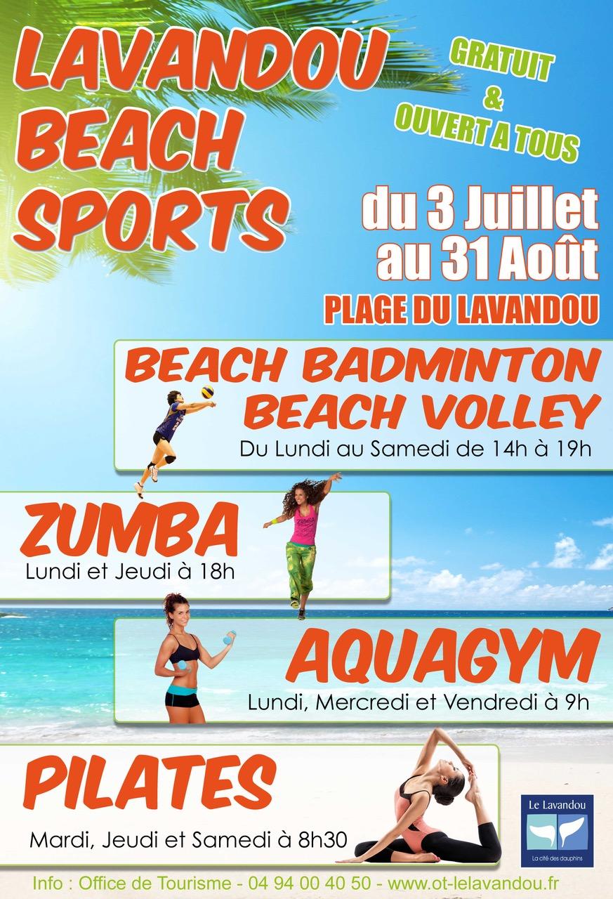 Lavandou beach sport