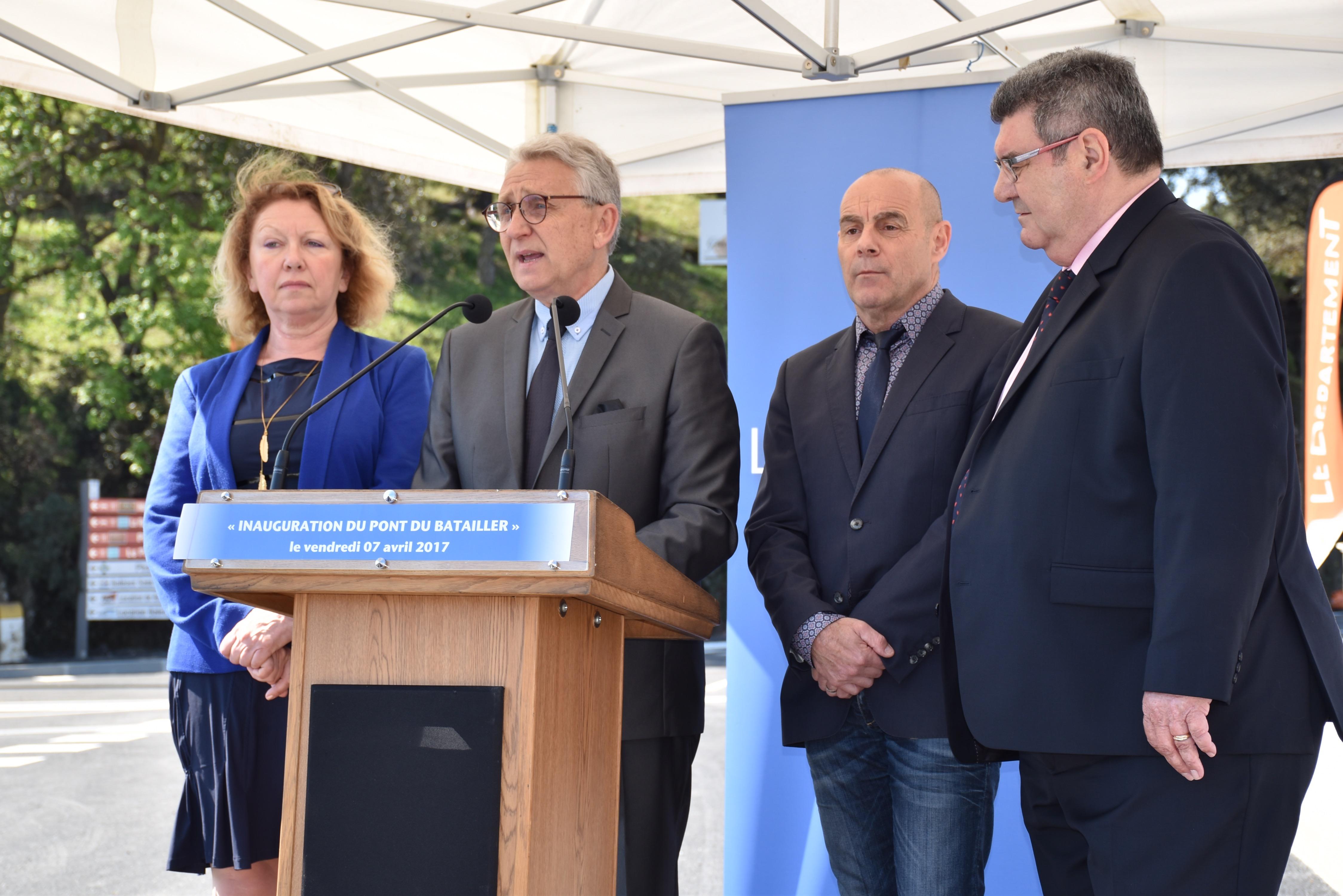 « Ce pont s'inscrit dans la continuité d'un programme de travaux de 10 millions d'euros, allant du canal de dérivation de la Vieille vers le Batailler, à l'élargissement de son estuaire, au recalibrage de ses berges en génie végétal… mais il n'est pas une fin en soi. Il n'est qu'une étape, certes importante, mais d'autres aménagements suivront. (…) Nous pourrons estimer que le travail de protection des populations sera accompli qu'après l'élargissement de cette rivière en amont du pont, et  jusqu'à celui de l'Avenue Vincent Auriol » Gil Bernardi, Président du SIPI - Maire du Lavandou