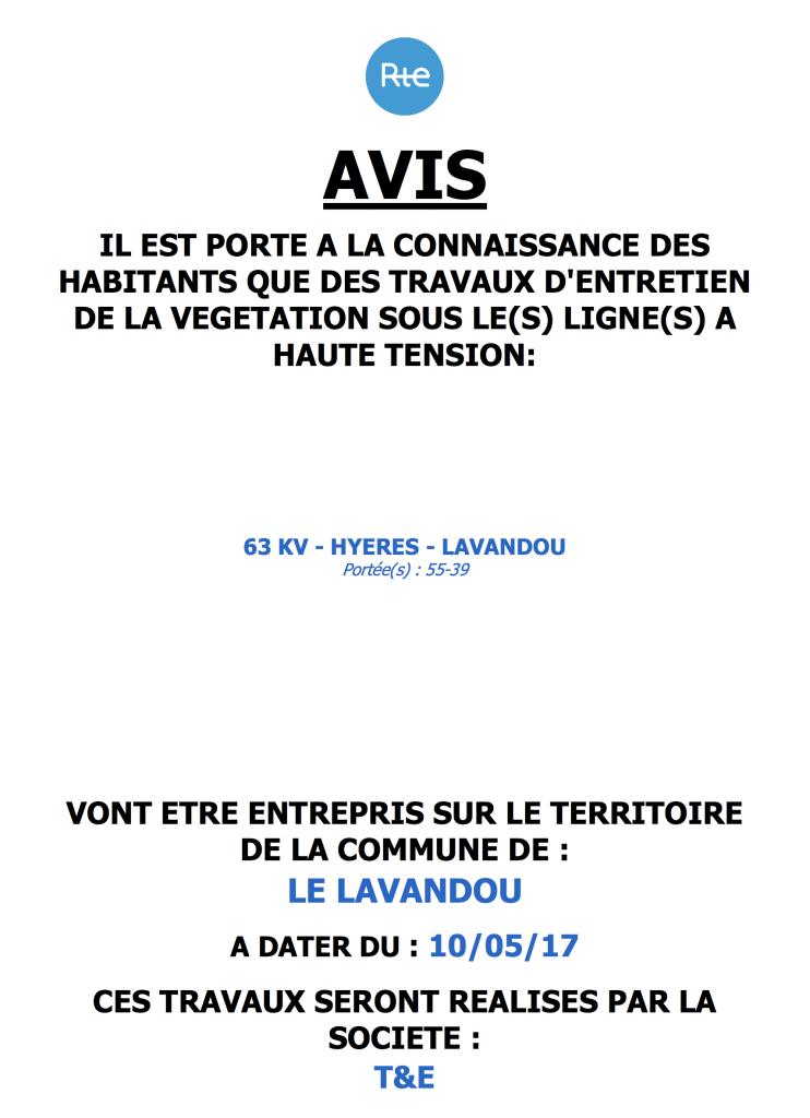 Avis RTE