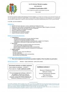 Annonce Emploi - Auxiliaire puériculture