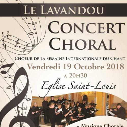 Vendredi 19 octobre à 20h30 - Concert Choral