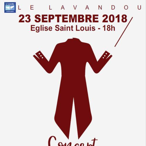 Dimanche 23 septembre 2018 à 18h - Concert Symphonique à l'Eglise St Louis - Entrée 10 €